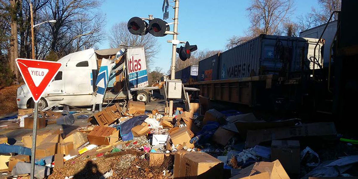 Train crashes into tractor trailer in Chester