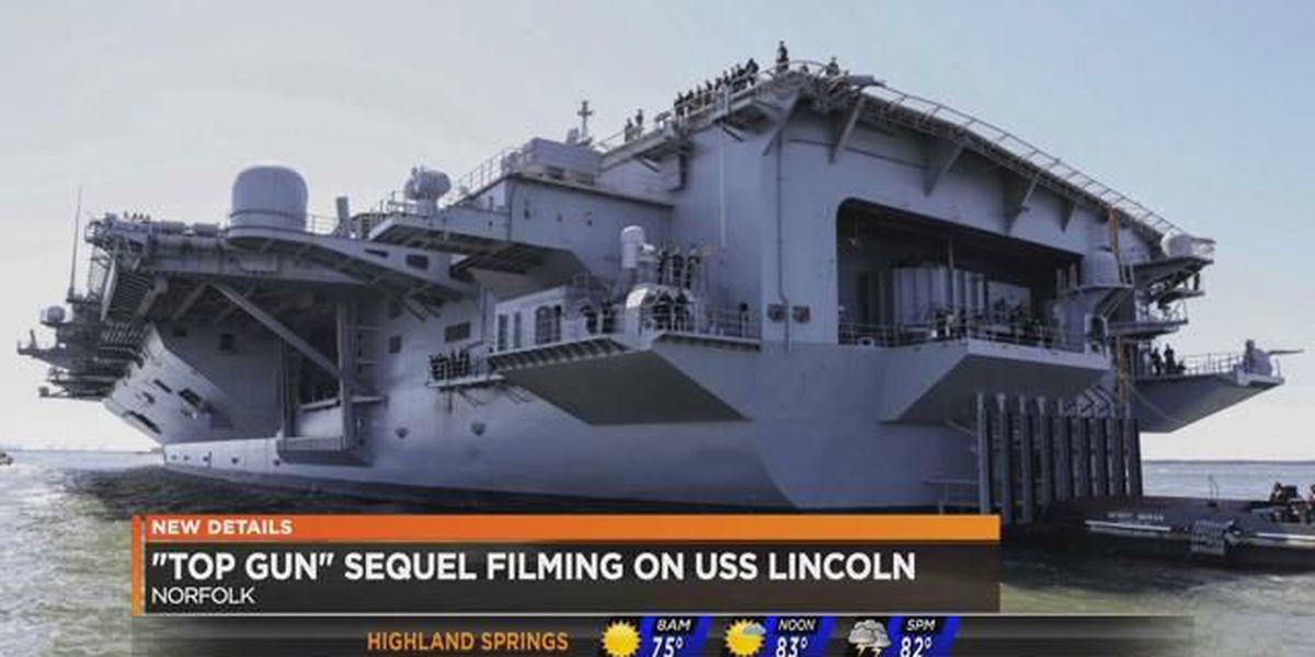 'Top Gun' squeal filming on USS Lincoln