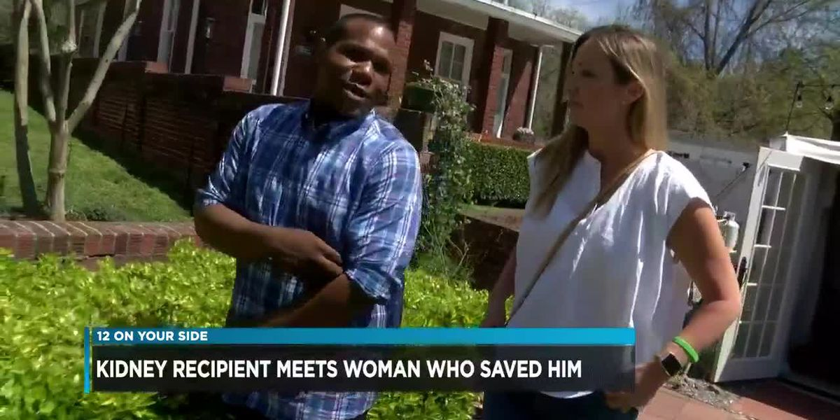 Kidney recipient meets woman who saved him