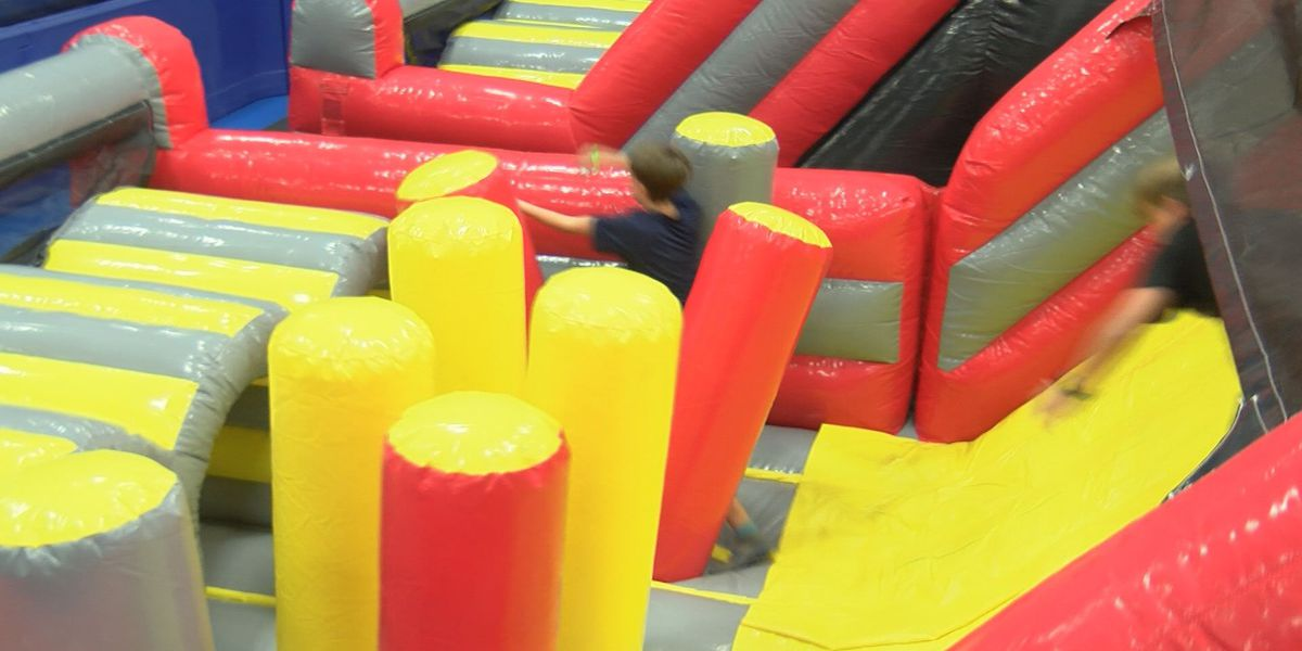 Inflatable ninja obstacle course opens in Short Pump
