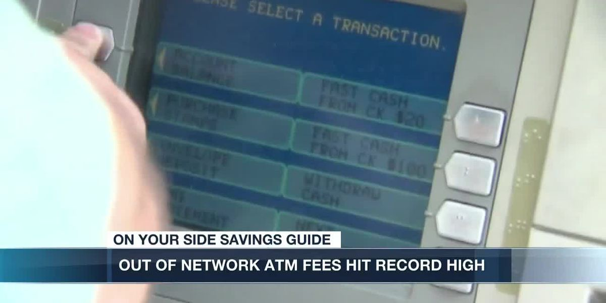 Out-of-network ATM fees reach new record high of $4.72