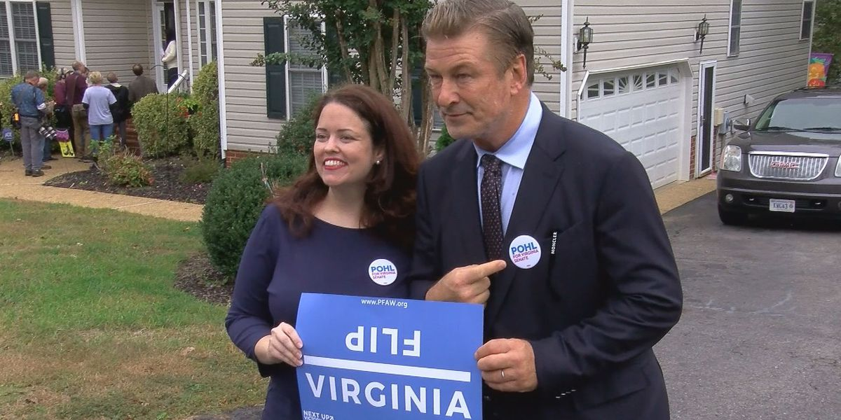 Actor Alec Baldwin campaigns for Virginia Democrats