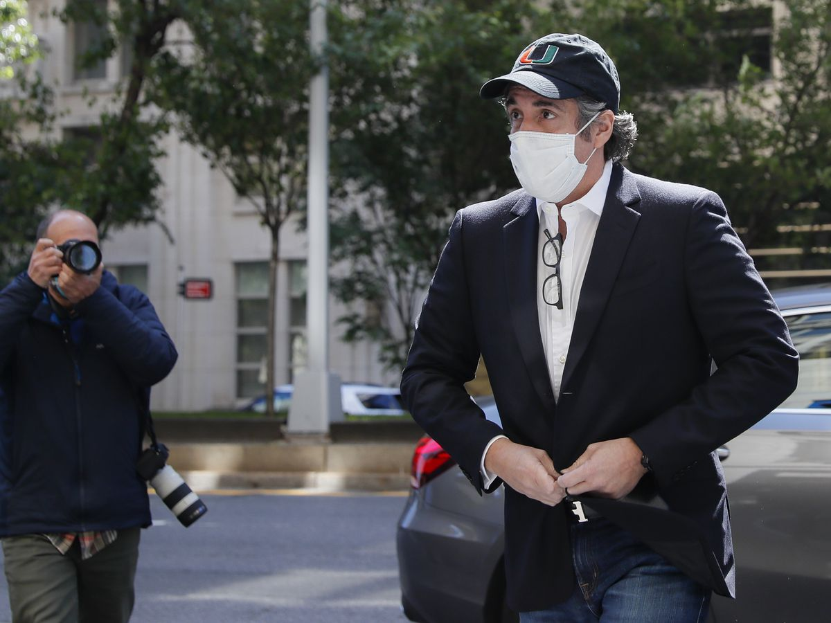 Ex-Trump fixer Michael Cohen sent back to federal prison