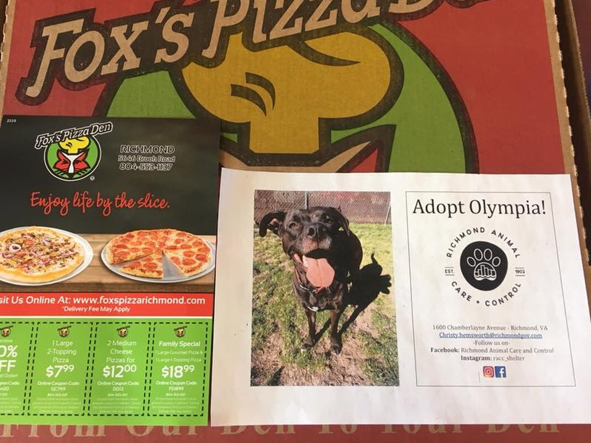 RACC teams up with Fox's Pizza Den to help get animals adopted