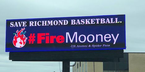 Spiders fans post 'Fire Mooney' billboard