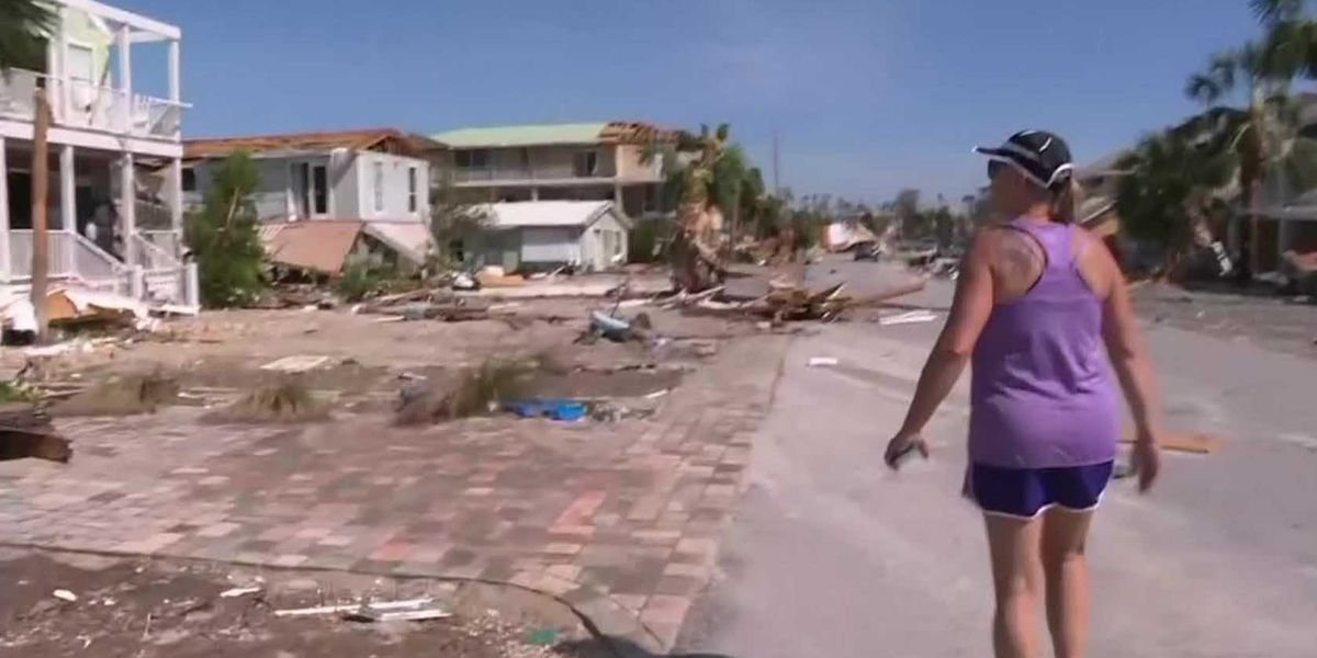Beachside town battered by Hurricane Michael
