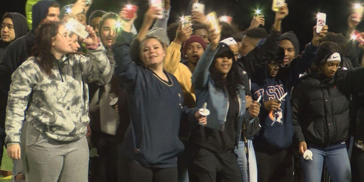 Varina High School students, staff hold vigil for beloved custodian