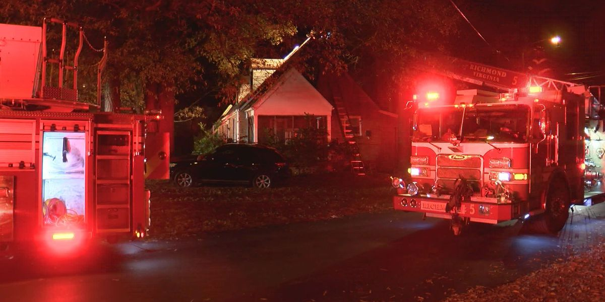 Crews battle Richmond house fire