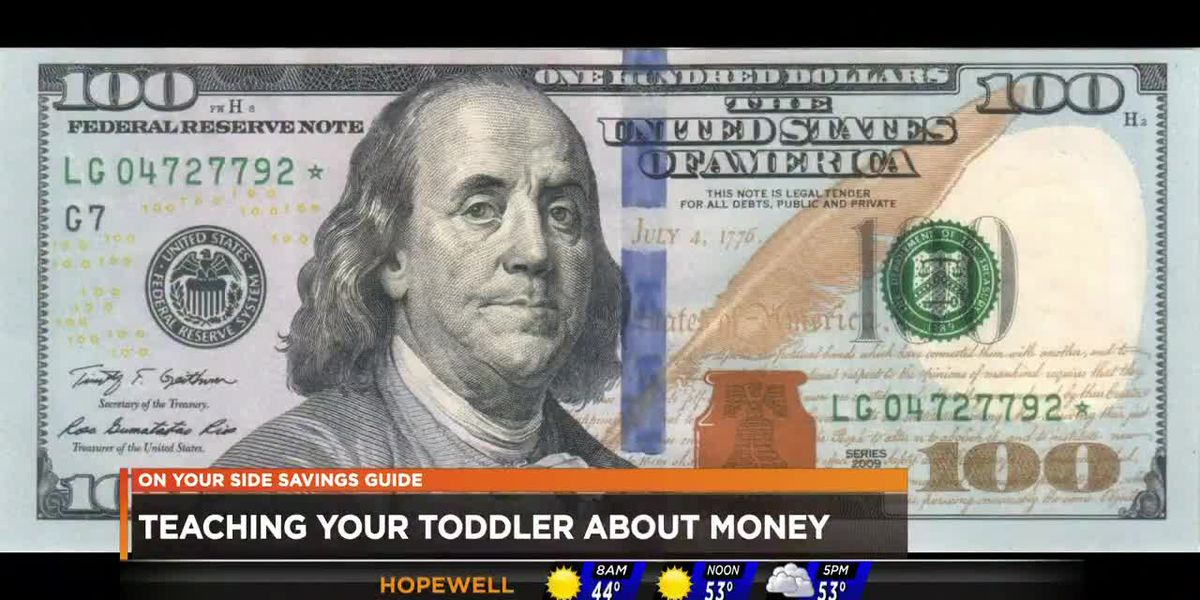 Teaching toddlers about money