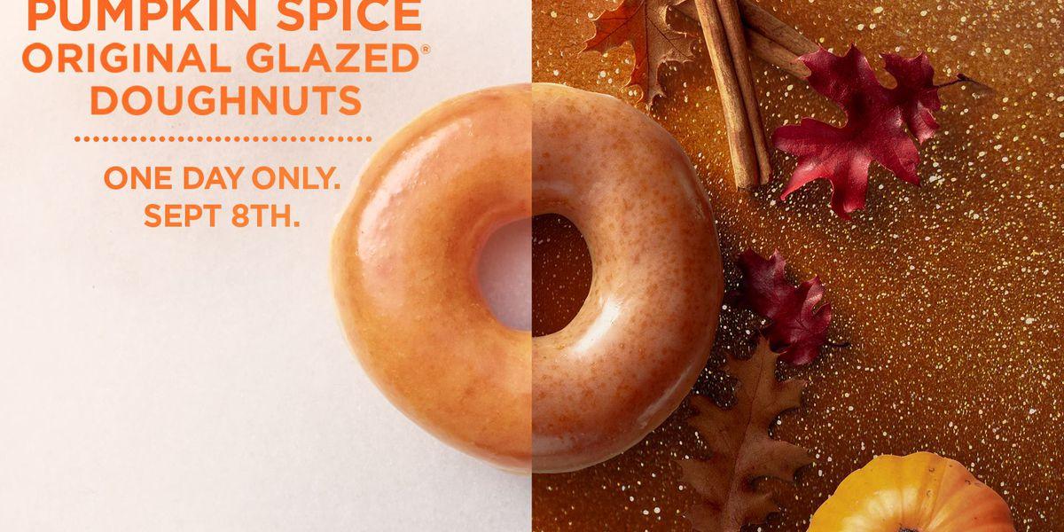 Krispy Kreme to offer Pumpkin Spice doughnut for one day only