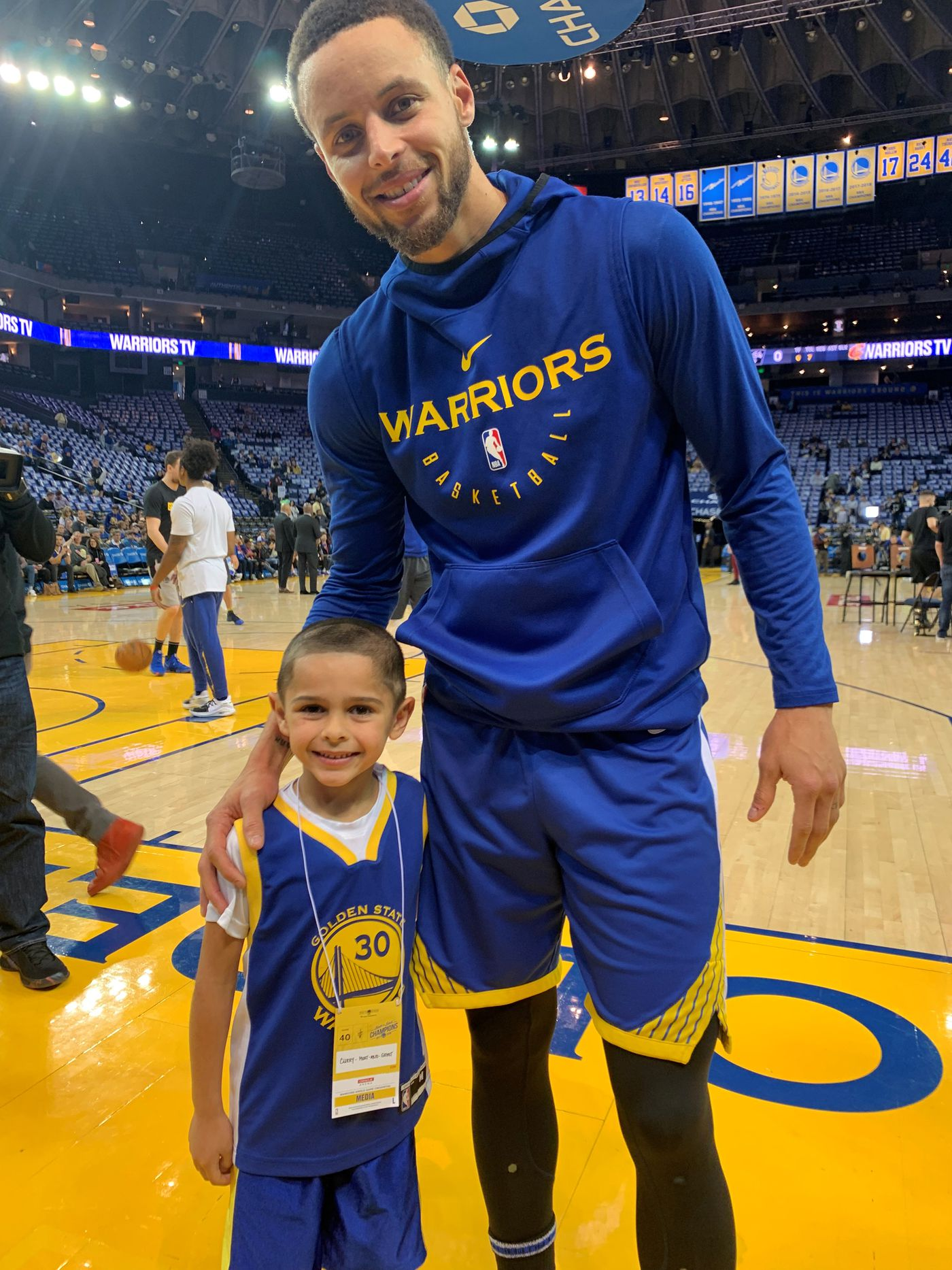 newest 1f261 e5428 Super good': RVA's Baby Steph meets real Steph Curry