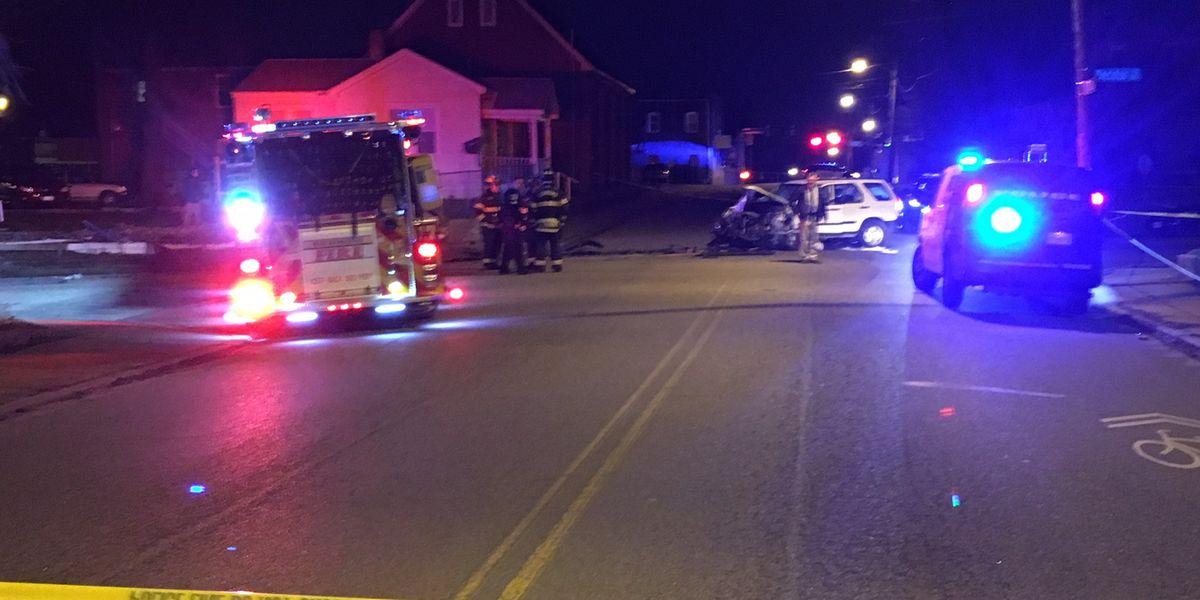 Stolen vehicle crashes through front yard of Richmond home