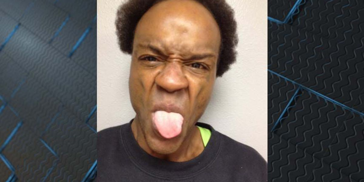 Drug suspect poses for comical mugshot