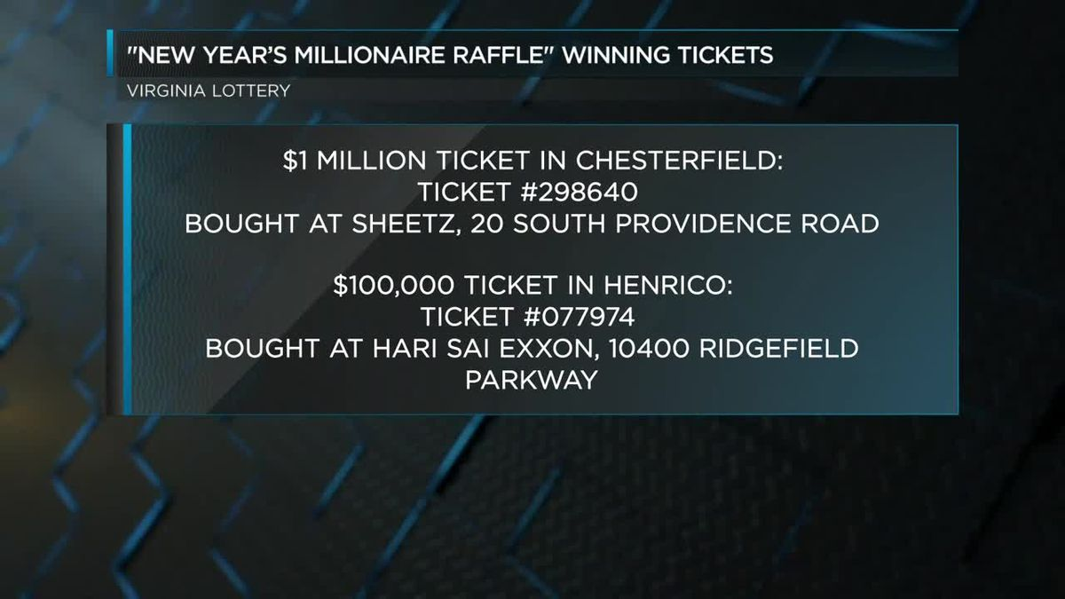 $1 million ticket sold in Richmond area for Virginia's New ...
