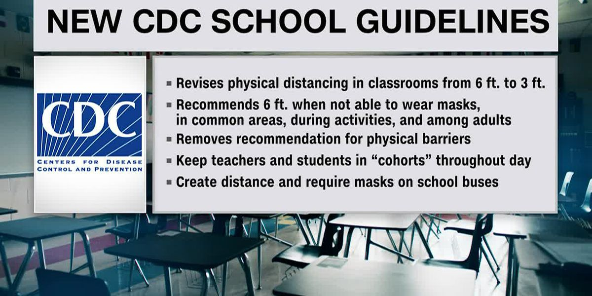 CDC eases 6ft spacing in classrooms to 3ft for students