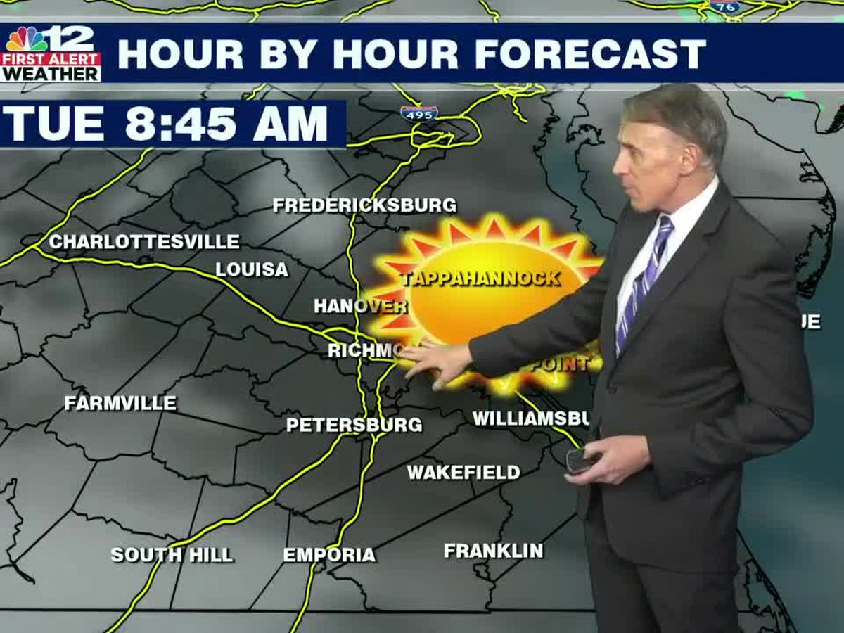 Forecast: Showers arrive on Tuesday with cooler temperatures