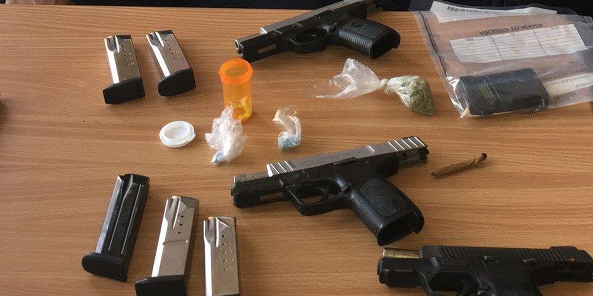 2 men arrested for firing shots in Petersburg street; guns, drugs seized