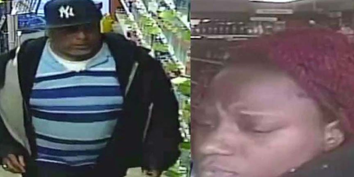 Police searching for 2 suspects after liquor larcenies