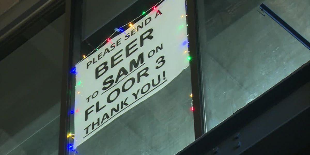 '3rd Floor Sam' has people buying him beer at work