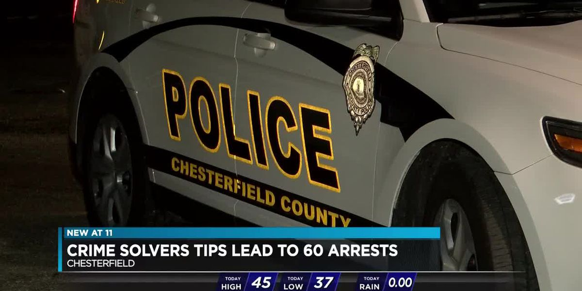 Hundreds of tipsters help Chesterfield, Colonial Heights police crack cases