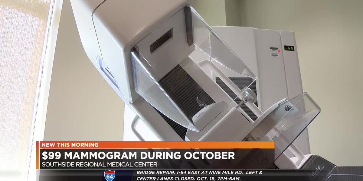 Southside Regional Medical Center offers $99 mammograms