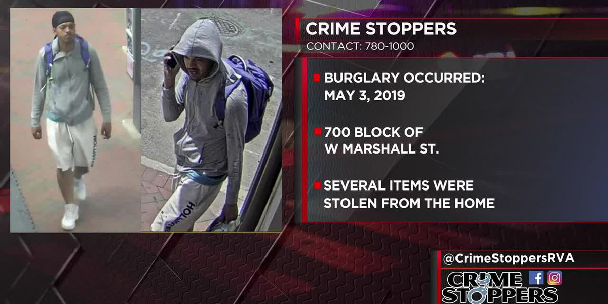 Richmond burglar takes numerous items from W. Marshall St. home