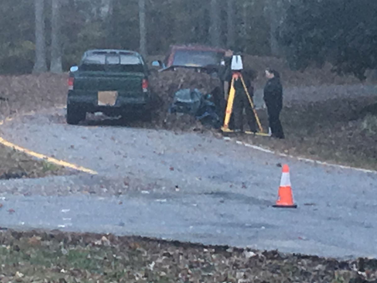 2 men picking up leaves hit by vehicle in Chesterfield
