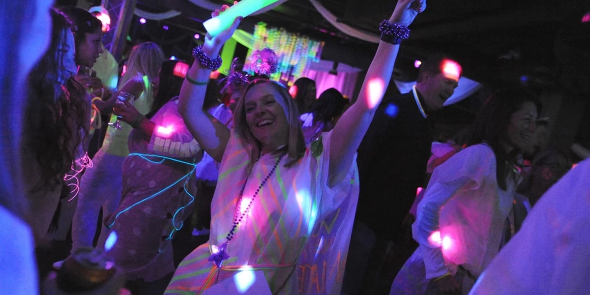 Neon-filled fundraiser benefitting Cameron K. Gallagher Foundation in live auction, wine toss
