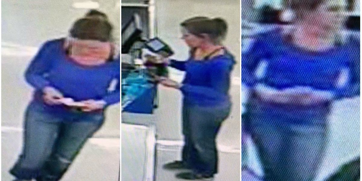 Woman caught on camera using stolen credit cards in 2 locations