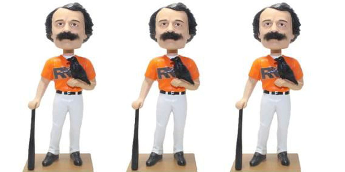 Edgar Allan Poe Bobblehead giveaway at The Diamond