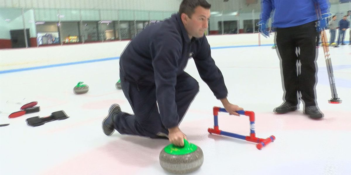 Curling Club of Virginia demonstrates basics of Olympic sport