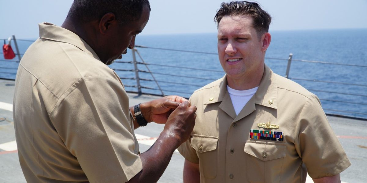Chesterfield native promoted to U.S. Navy Lieutenant Commander