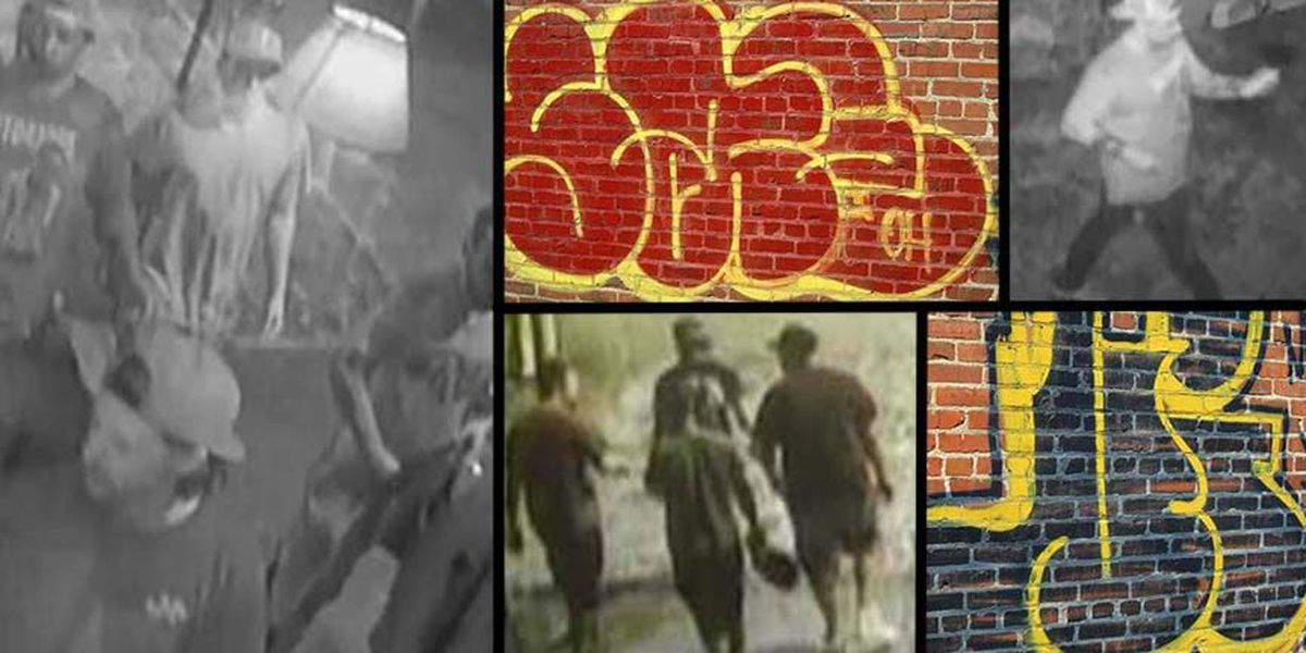 6 taggers caught on video vandalizing Richmond building