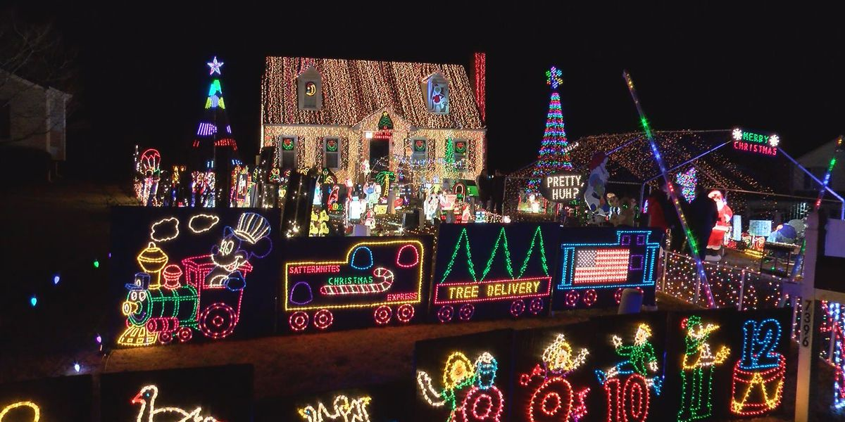 Holiday home in Mechanicsville encourages you to interact with the lights
