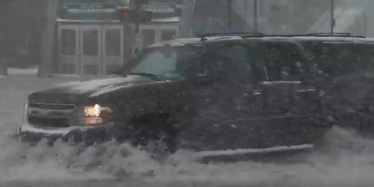 Massive winter storm causes flooding on Boston streets