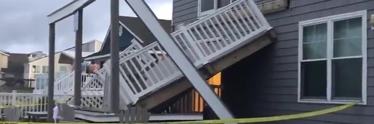 Five hurt in Virginia Beach after rental home deck collapses