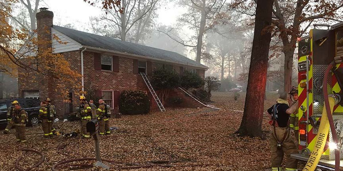 7 displaced after basement fire in North Chesterfield