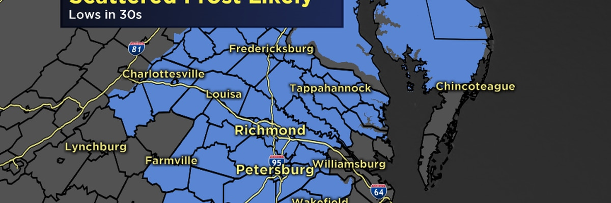 Frost likely Thursday night into Friday morning