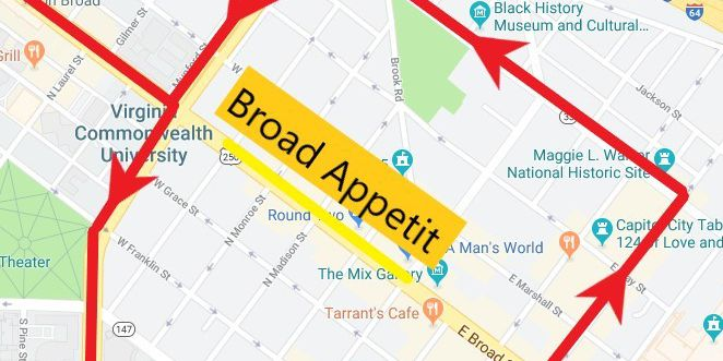 GRTC to make route changes for Broad Appetit Festival