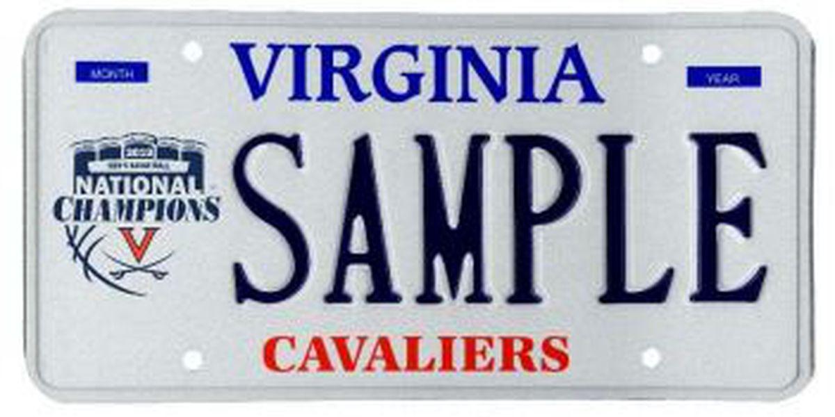 License plate commemorates UVA national championship