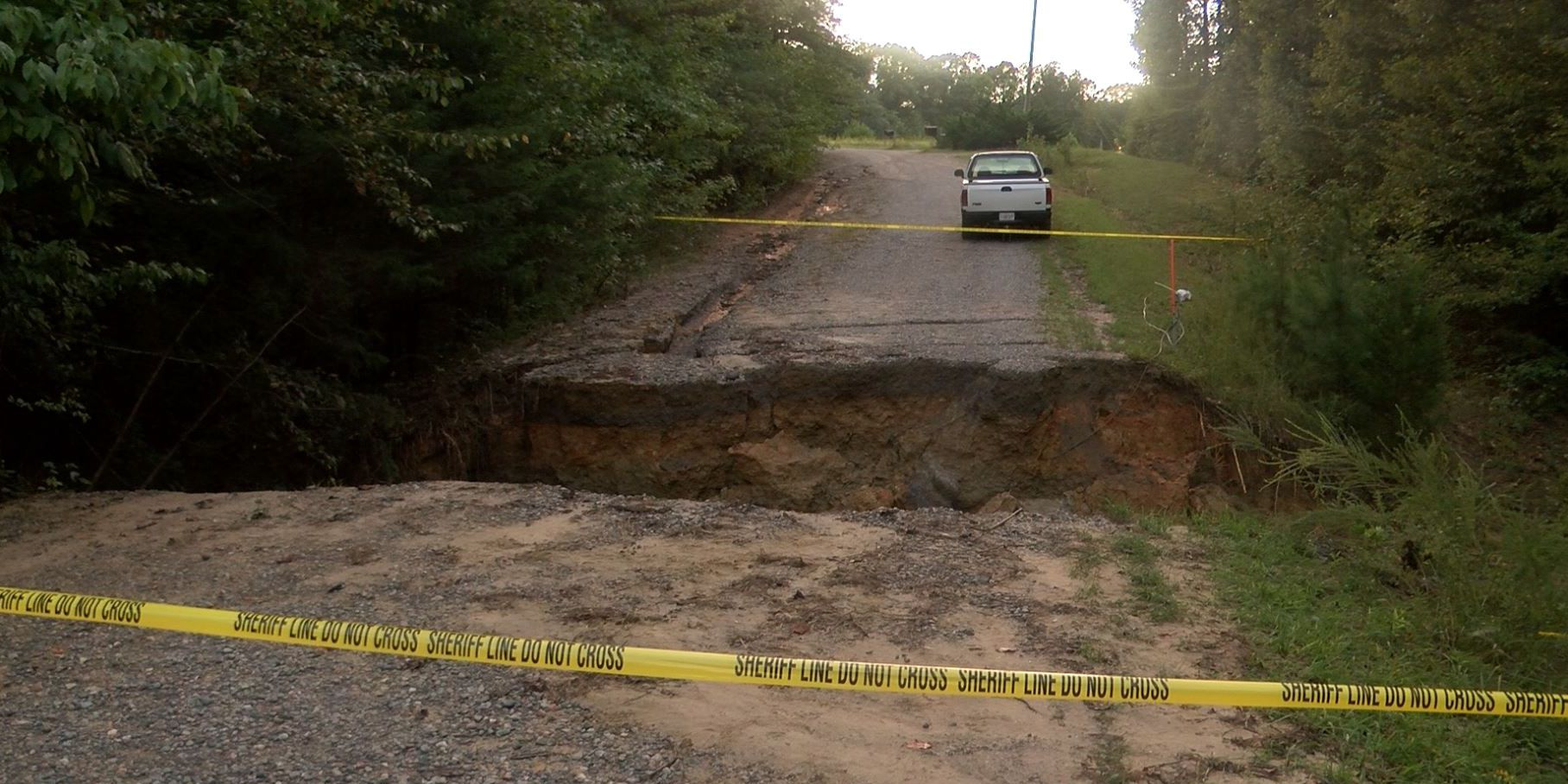 Community helping fix washed out Amelia County road