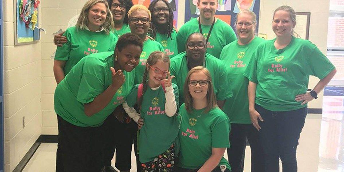 Rally for Allie: School shows love for girl having brain surgery
