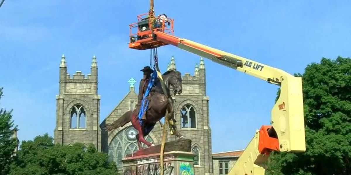 Statue of Confederate Gen. J.E.B. Stuart removed in Richmond