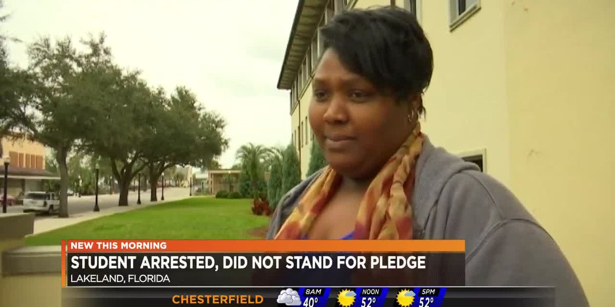 Student arrested after not standing up for pledge