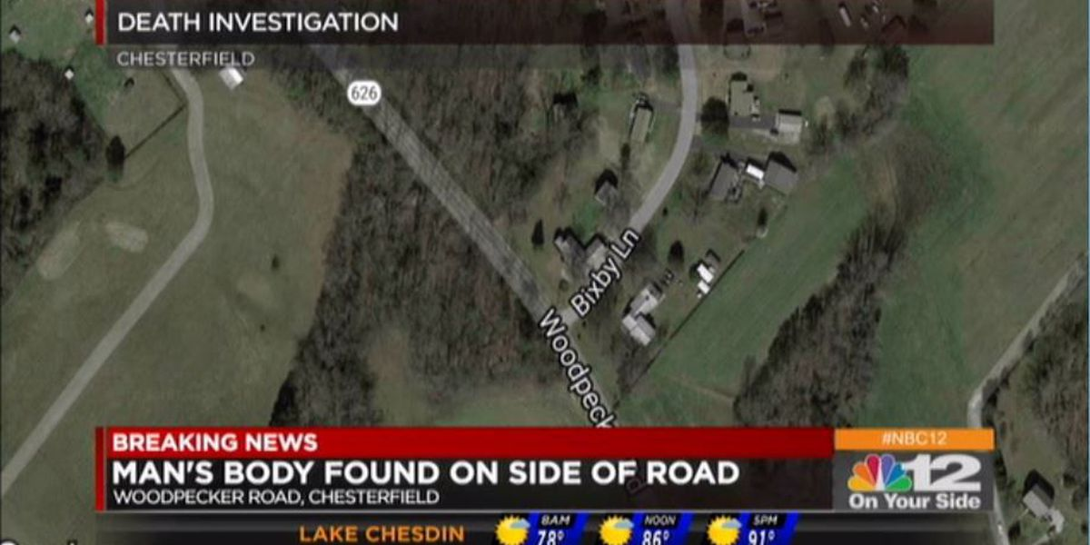 Death investigation underway after man's body found on side of Chesterfield road