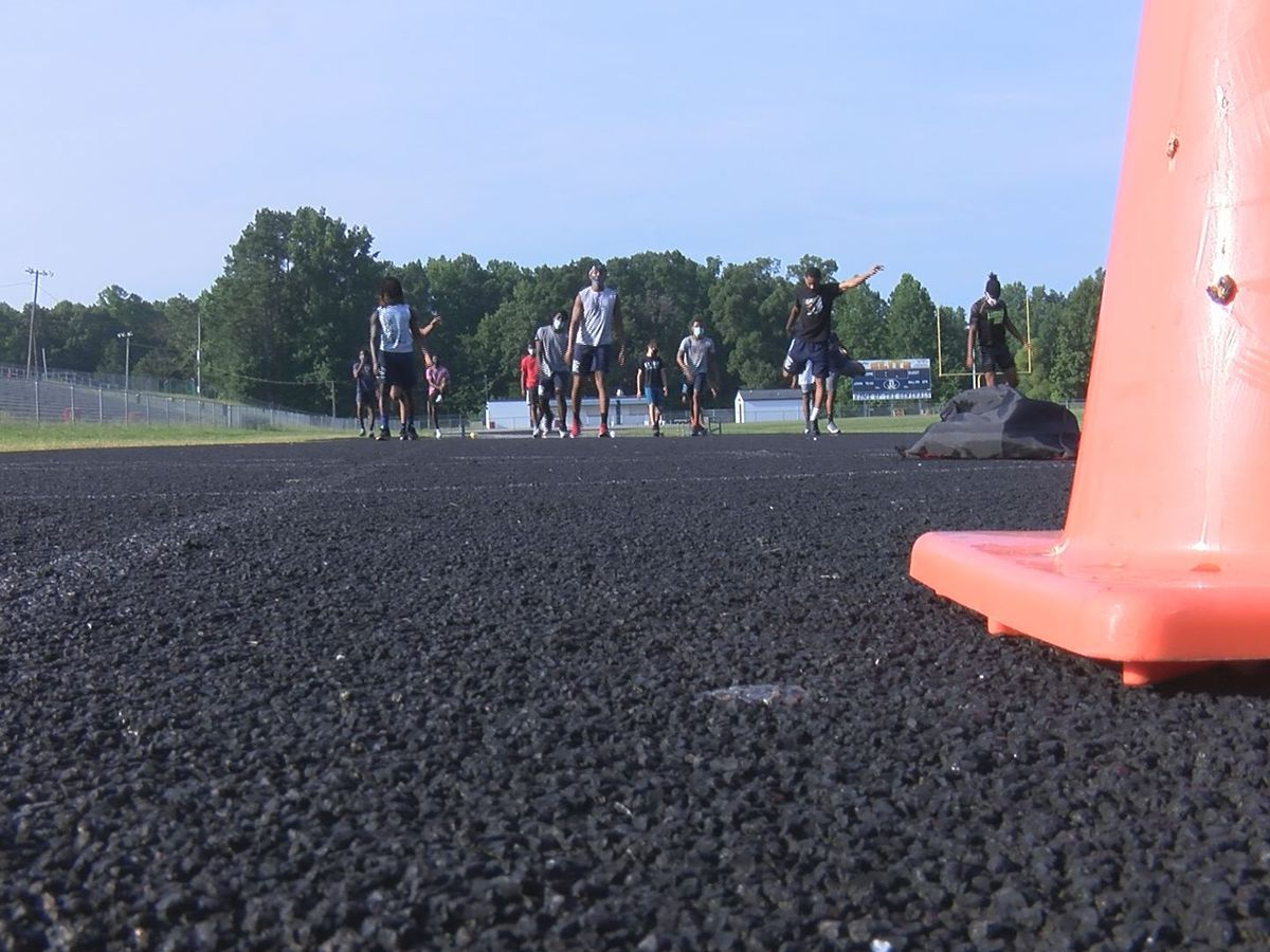 Dinwiddie football working out with safety measures in place