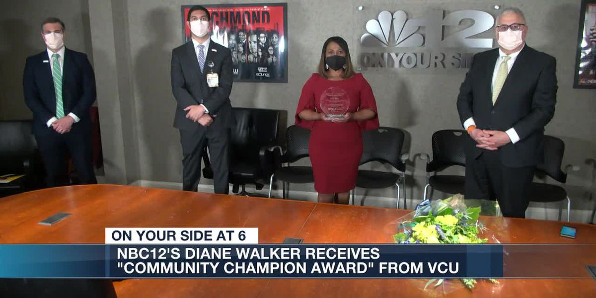 NBC12's Diane Walker receives 'Community Champion Award' from VCU