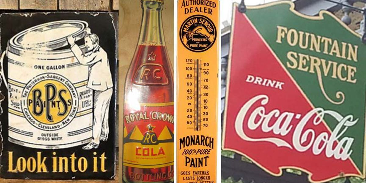 Vintage signs stolen from auction house