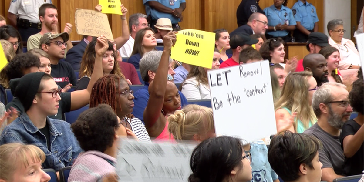 Crowd cheers for idea to remove Confederate monuments in Richmond