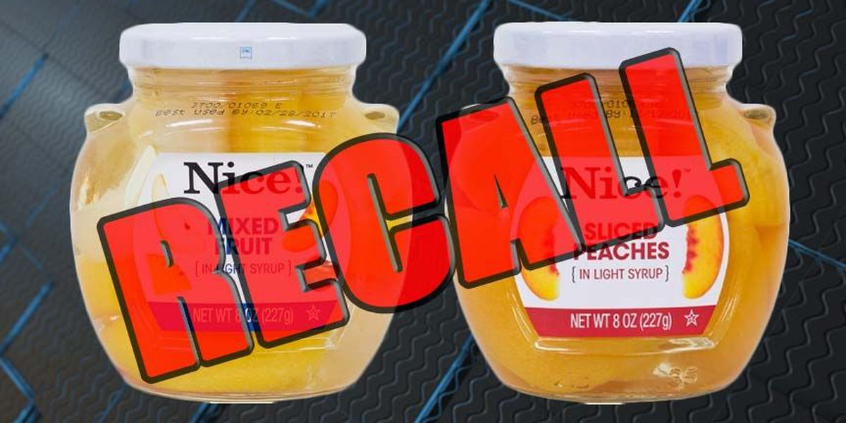 RECALL: Glass found in fruit jars